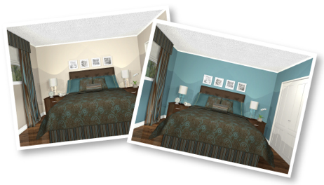 E Decorating Colour Options. Virtual Decorating ...